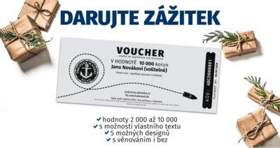 Dárkový voucher na pronájem lodě